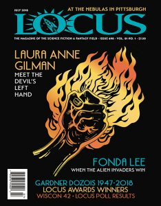 Locus science fiction magazine July 2018