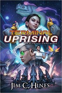 Carolyn Cushman Reviews <b>Terminal Uprising</b> by Jim C. Hines and <b>Circle of the Moon</b> by Faith Hunter