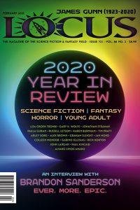 Cover of February 2021 issue of Locus