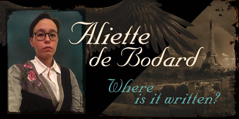 Aliette de Bodard: Where Is It Written?