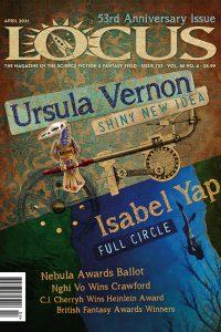 Cover of April 2021 issue of Locus