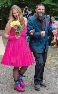 Photo of Dixon and Taylor at wedding