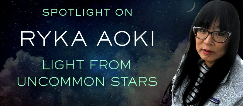Ryka Aoki in front of a starry night