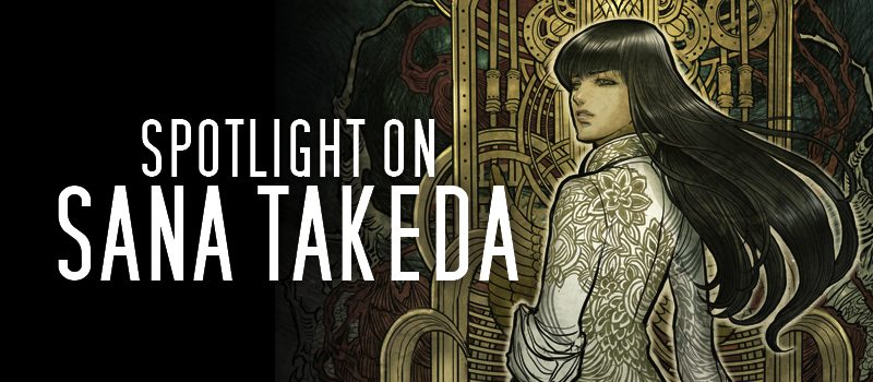 Graphic for spotlight interview with artist Sana Takeda
